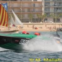 L'embarcació guanyadora en un dels moments de la regata.