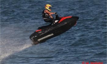 David Rodriguez - Campió d'Europa 2019 a la categoria Runabout Classic, a la imatge, participant al torneig del Campionat Europeu Aquax, dins la categoria Sprint